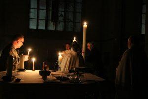 Hier ist die Kerze aus St. Maximilian dran.